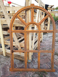 Arched Mirror Cast Iron Windows For Garden Standard Size Antique Metal Windows