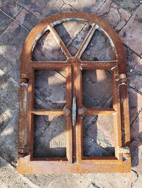 OEM Antique European Swing Open Cast Iron Windows H57.5xW38CM