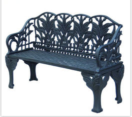 Antique Green Long Cast Iron Table And Chairs / Cast Iron Park Bench