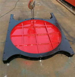 Steel Thimble Mounted Sluice Gate Round Shape For Rivers Sluices
