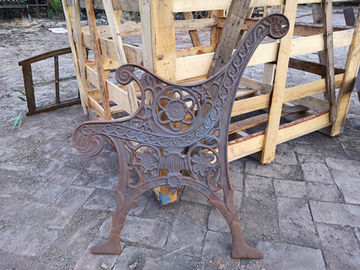 Classical Park Bench Slab Cast Iron Bench Ends For Cast Iron Bench Seat
