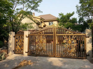 Galvanized & Powder Coated Wrought Iron Fence Gate / Iron Garden Gate