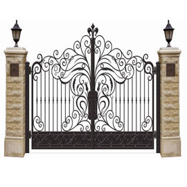 Double Entry Cast Iron Gates Powder Coat Wrought Iron Entry Gates