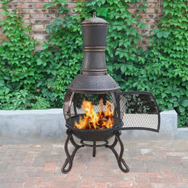 Charcoal And Wood Cast Iron Garden Chimney Antique Cast Iron