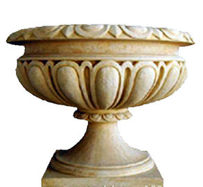 China Custom Color Cast Iron Flower Pots Urn Planter For Landscape / Theme Park supplier