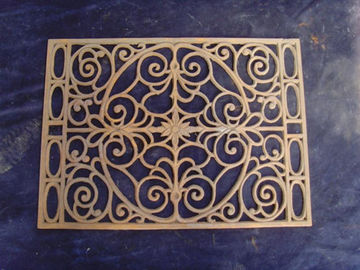 Van - T Square Cast Iron Doormat Hollow Design Rusty Color Cast Iron Floor Mat