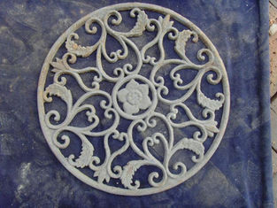 Classical Design Outdoor Round Cast Iron Doormat For Home Decor