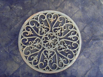 Durable Metal Art Iron Door Mats Outdoor Decorative Metal Entrance Mat