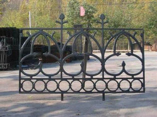 Portland Cast Iron Fence Panels Powder Coated Steel Prefab Metal Fence Panels