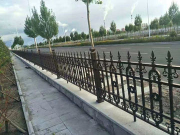 Galvanized Cast Iron Fence Panels Powder Coated Surface Treatment Decorative Metal Fence