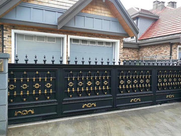 Ornamental Cast Iron Fence Climate Resistance / Outdoor Spearhead Fence