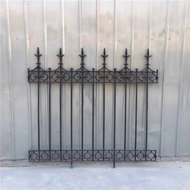 Classical Street Decorative Rod Iron Fence Powder Coated Cast Iron Garden Fence