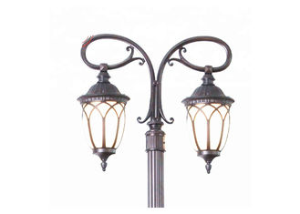Garden Landscape Cast Iron Lamp Post Two Arm For Street Decoration