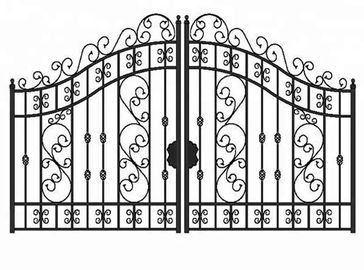 Outdoor Sliding Grill Cast Iron Driveway Gates For House Double Entry