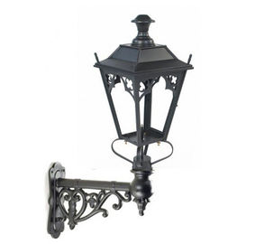China Antique Cast Iron Lamp Post Classical Wall Light Pole For Yard Decoration supplier