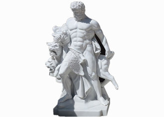 Western style life size white marble stone man statue sculpture