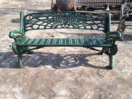 Outdoor Furniture Moose Metal Park Benches , Cast Iron Garden Chairs For Park