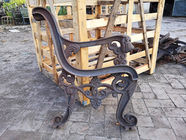 Park Garden Wooden Cast Iron Bench Ends Antirust For Street Furniture
