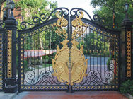 Wrought Iron Cast Iron Decor Security Entrance Cast Iron Garden Gate Tree Shaped For Home Ornaments