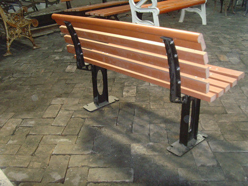 Outdoor Cast Iron Garden Bench Parts / Powder Coating Cast Iron Park Bench Legs